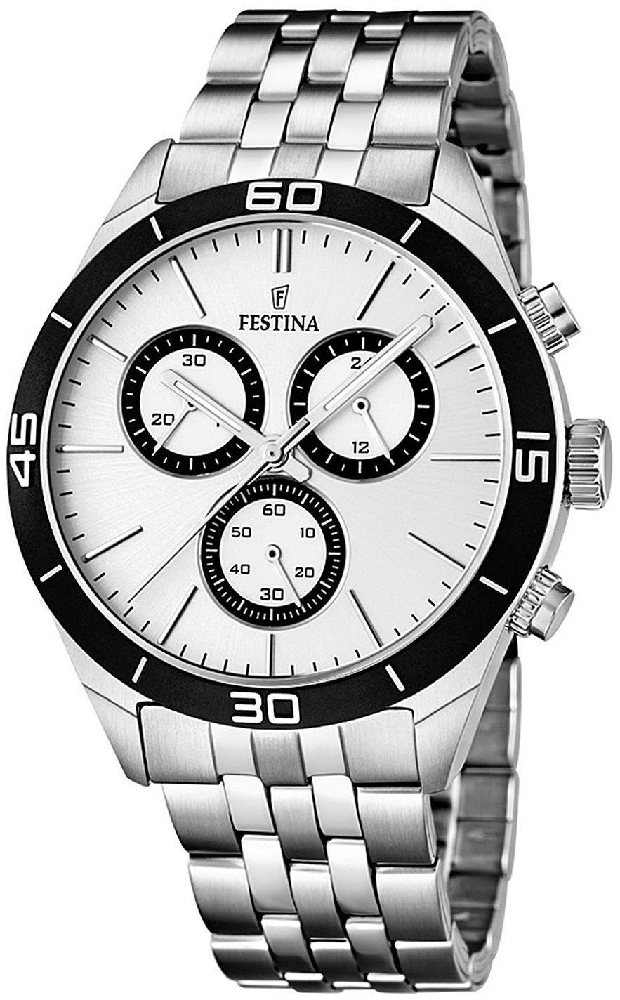 Zegarek Festina F16762-1 Chronograph - CENA DO NEGOCJACJI - DOSTAWA DHL GRATIS, KUPUJ BEZ RYZYKA - 100 dni na zwrot, możliwość wygrawerowania dowolnego tekstu.