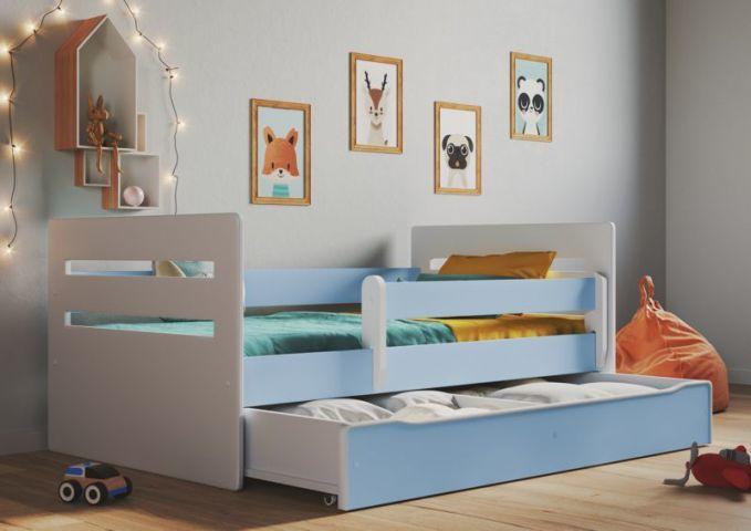 Łóżko dziecięce TOMI 180x80 niebieskie