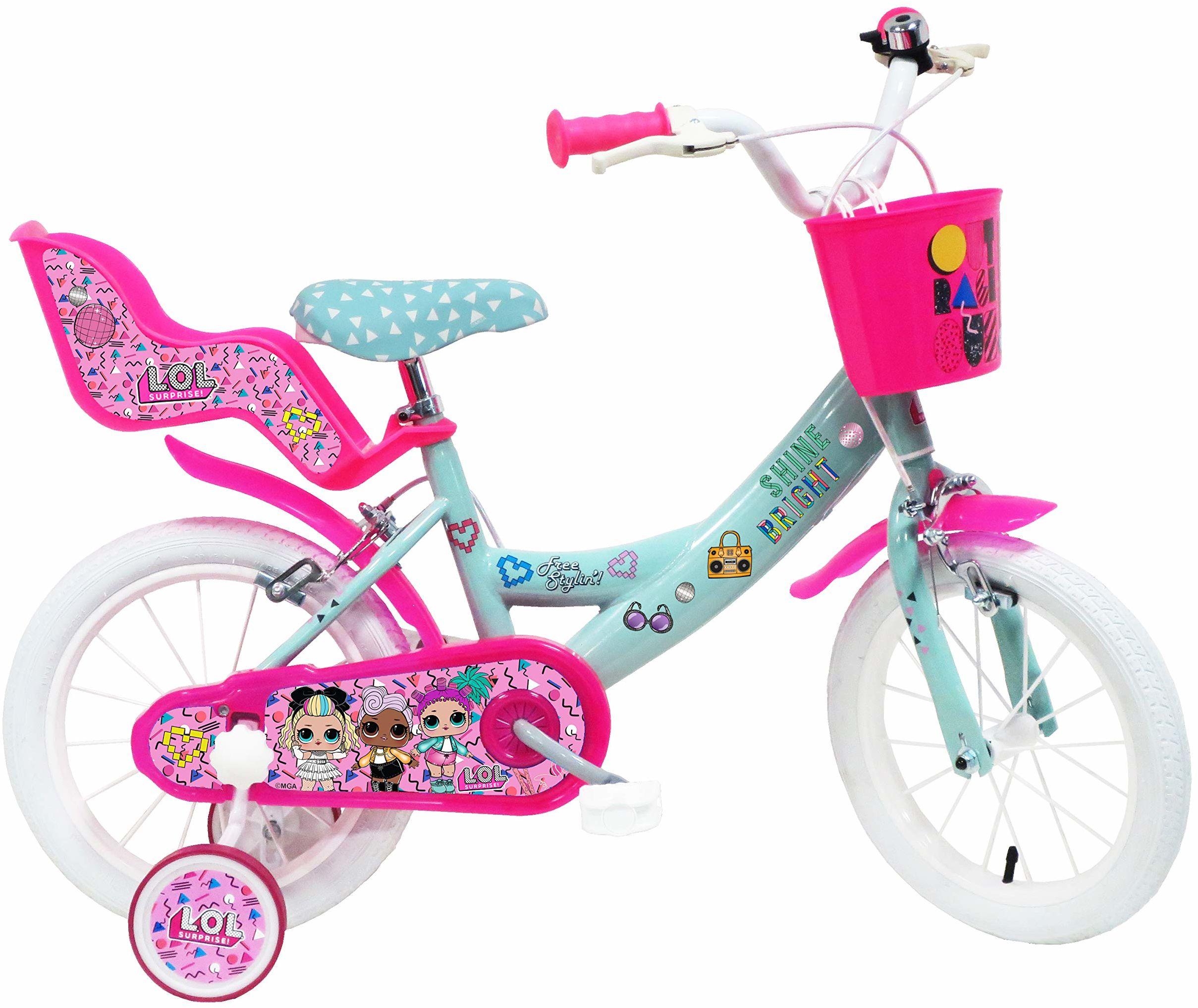 """Denver Bike Rower miejski 14 Lol 35,6 cm (14""""), stalowy, różowy, turkusowy, biały dla dziewcząt  rower (pionowy, miejski, 35,6 cm (14""""), stalowy, różowy, turkusowy, biały, 35,6 cm (14"""")"""