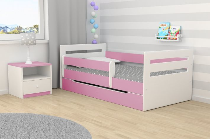 Łóżko dziecięce TOMI 180x80 różowe