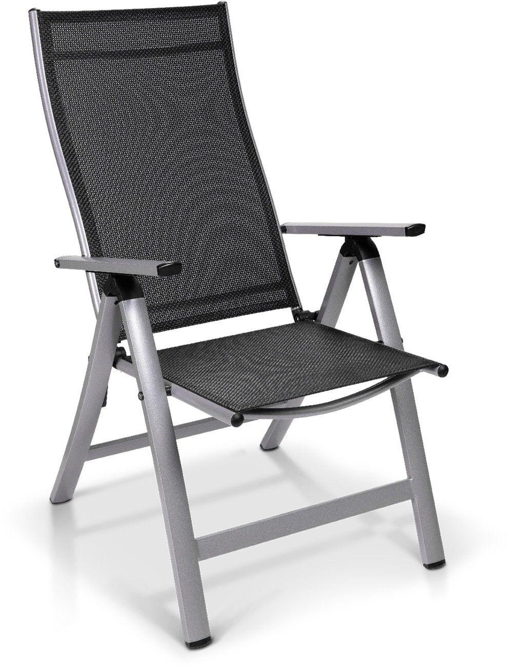 Blumfeldt London, fotel ogrodowy, tkanina syntetyczna (Textilene), aluminium, 6 pozycji, składany