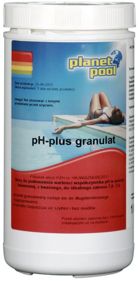 Granulat do basenu 1 kg PLANET POOL PH PLUS