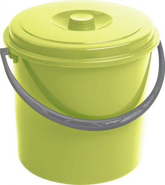 Wiadro 10L z pokrywą zielone