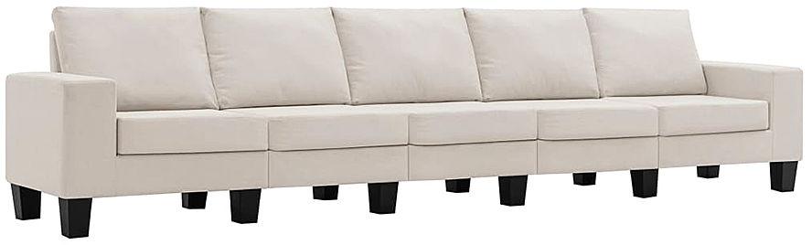 Ponadczasowa 5-osobowa kremowa sofa - Lurra 5Q