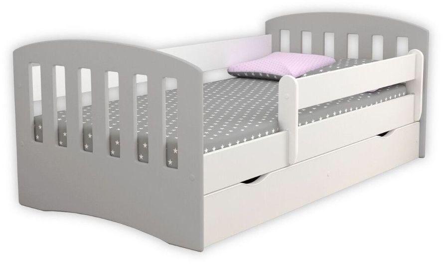Łóżko dziecięce CLASSIC 1 MIX 140x80 szare  Kupuj w Sprawdzonych sklepach