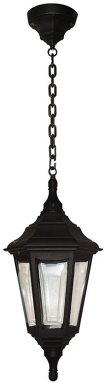 Lampa wisząca zewnętrzna Kinsale CHAIN Elstead Lighting czarna oprawa w dekoracyjnym stylu