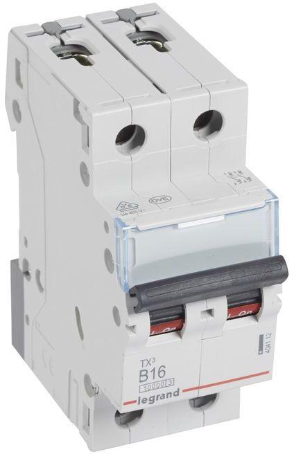 Wyłącznik nadprądowy 2P B 16A 10kA AC S312 TX3 404112
