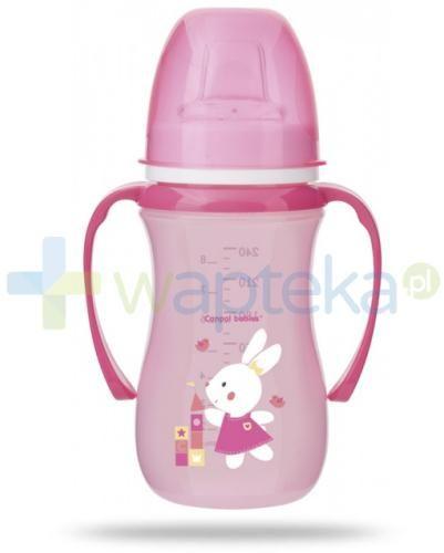 Canpol Babies EasyStart Sweet fun kubek treningowy 6m+ różowy królik 240 ml [35/208]