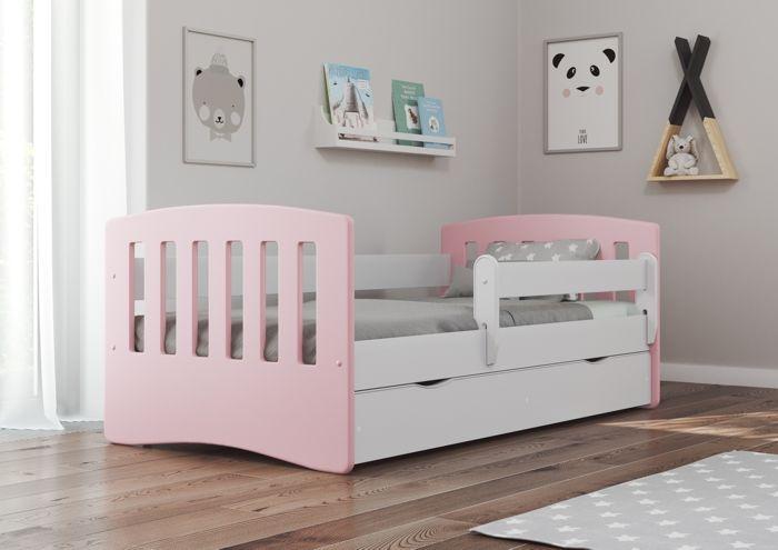 Łóżko dziecięce CLASSIC 1 MIX 180x80 różowe