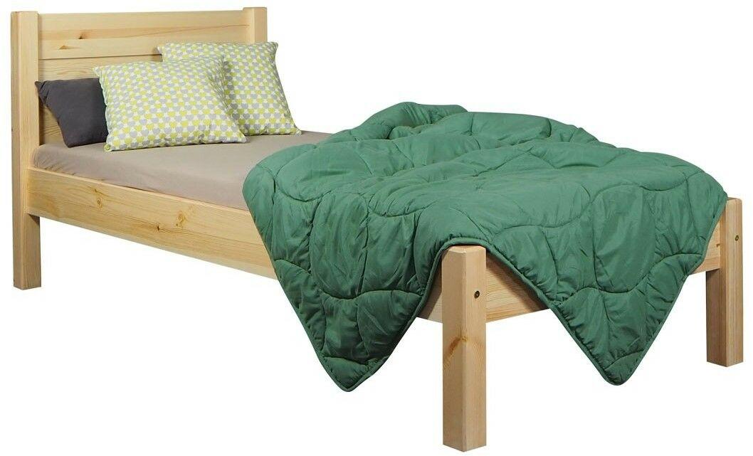 Łóżko Classic tył równy Meble Doktór sosnowe, Rozmiar: 90 x 200 cm, Kolor: Kolor naturalny