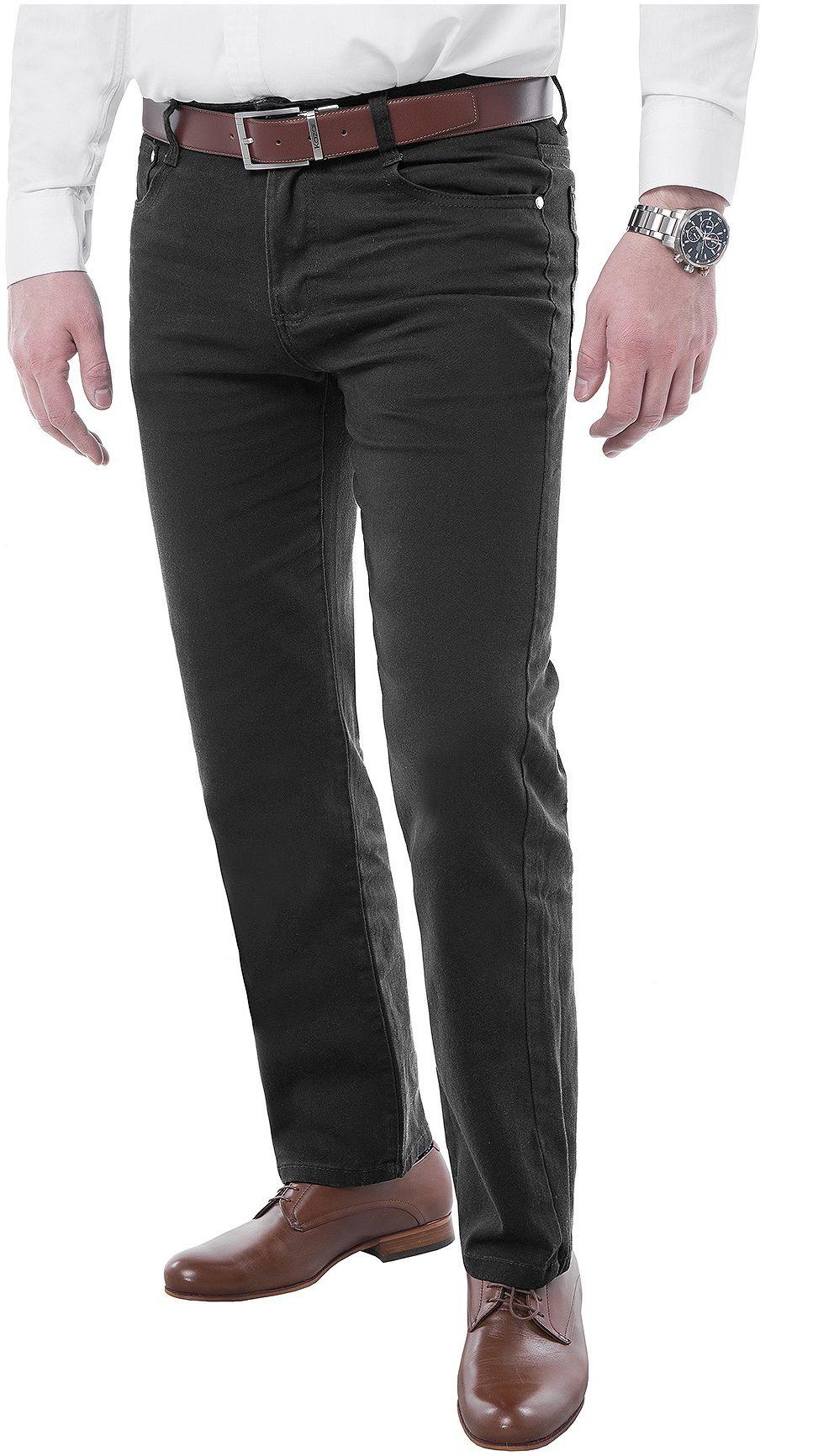 Wyprzedaż spodnie męskie chinosy - 8617 - czarne