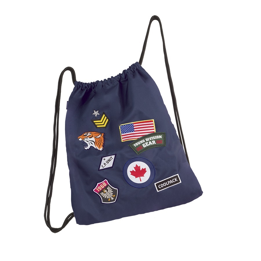 Worek na buty, sportowy CoolPack Sprint Badges Navy (A414) 90711CP