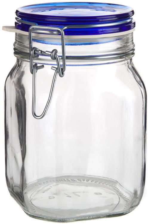 Pojemnik ze szkła z klipową zakrętką 1 l