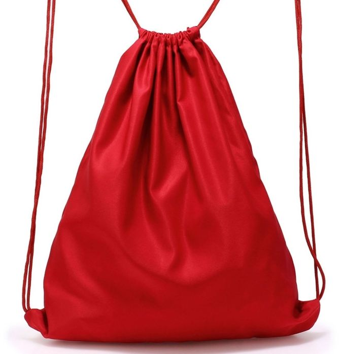 Czerwony plecak worek na buty BASIC