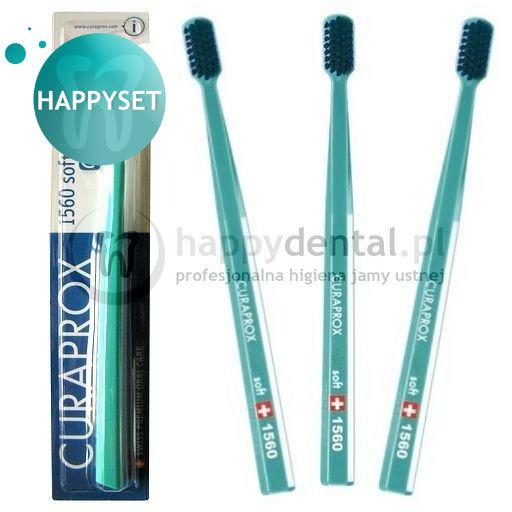 CURAPROX CS 1560 Soft zestaw 3 szczoteczek do zębów BLISTER