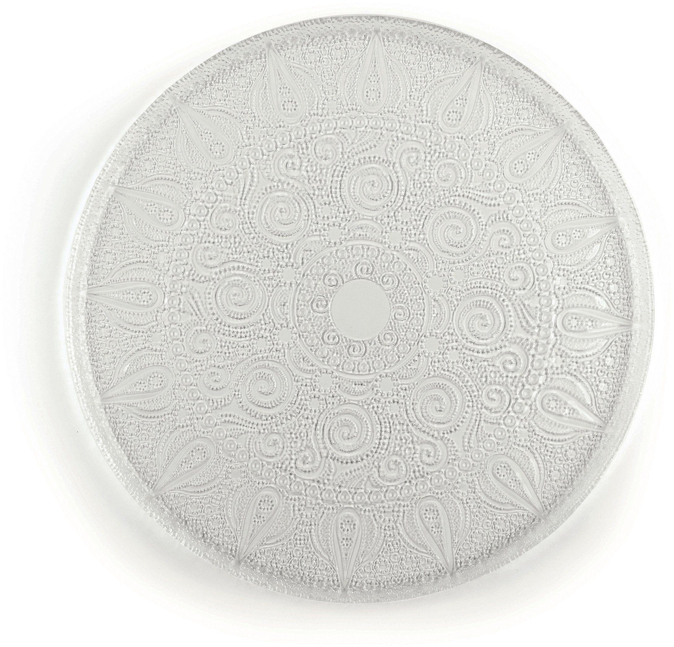 Excelsa talerz arabeskowy do serwowania, szkło, przezroczysty, 38 x 38 x 1 cm