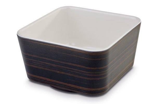 Miska kwadratowa z melaminy dąb/kremowa różne wymiary