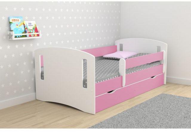 Łóżko dziecięce CLASSIC 2 160x80 różowe