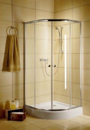 Radaway Classic A Kabina prysznicowa półokrągła z drzwiami przesuwnymi 90x90x185 szkło fabric 30000-01-06 __AUTORYZOWANY_DYSTRYBUTOR__3_LATA_GWAR.__