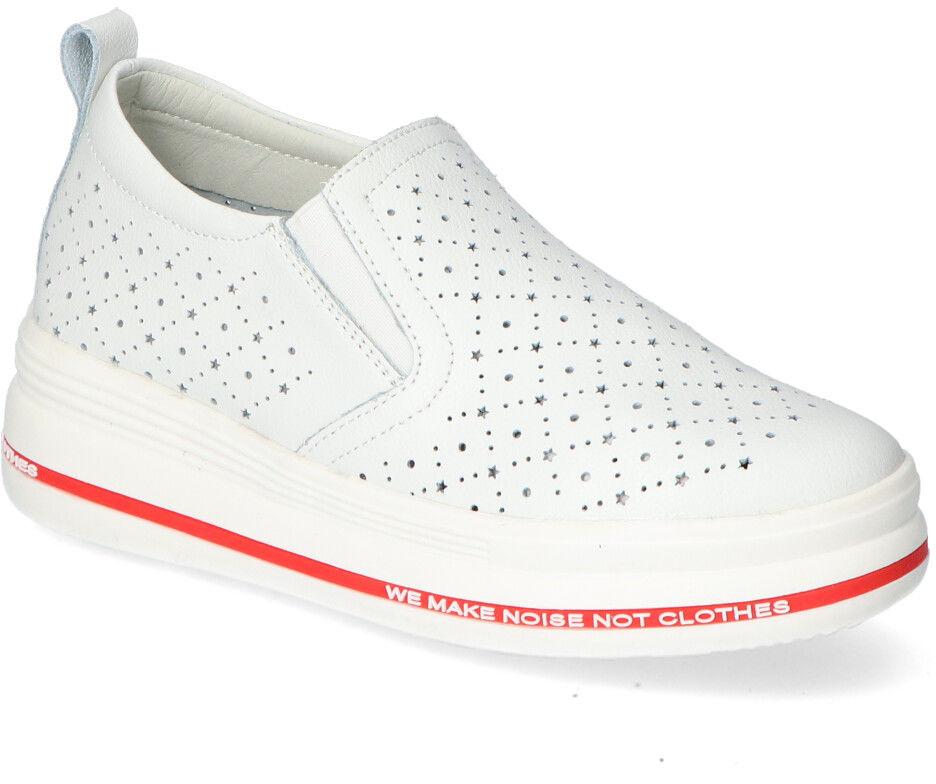 Białe Sneakersy Filippo na platformie Filippo DP2009/21WH White