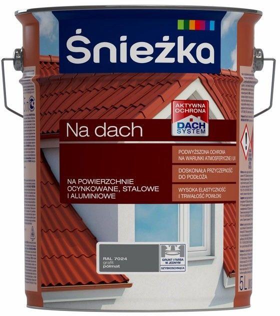 Emalia Śnieżka Na dach grafitowa 5 l