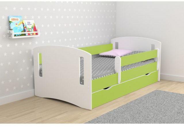 Łóżko dziecięce CLASSIC 2 180x80 zielone