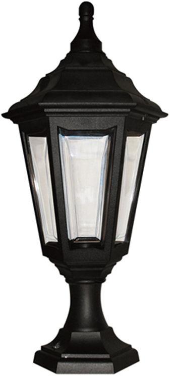 Lampa stojąca zewnętrzna Kinsale PED/POR Elstead Lighting czarna oprawa w dekoracyjnym stylu