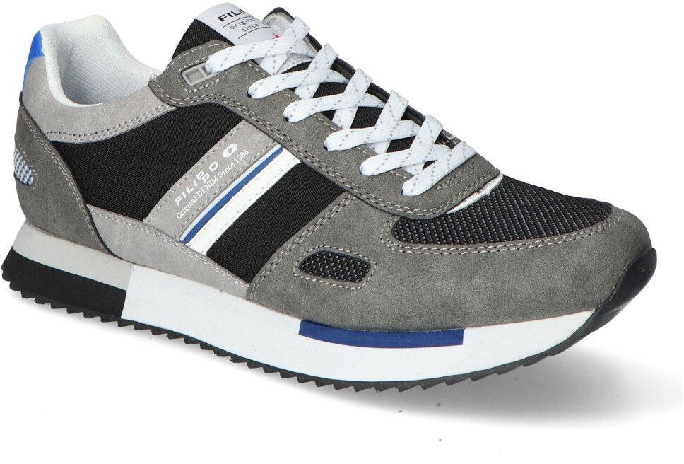Szare Sneakersy Męskie Filippo Filippo MSP2129/21GR Grey