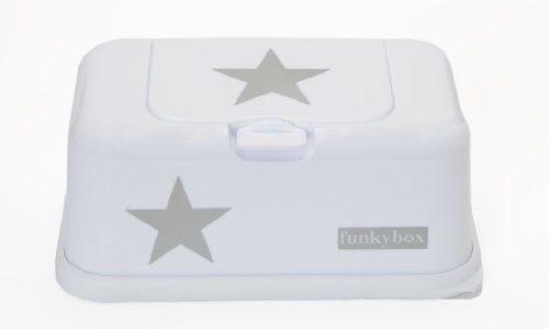 Funkybox - Pojemnik na Chusteczki White Silver Star