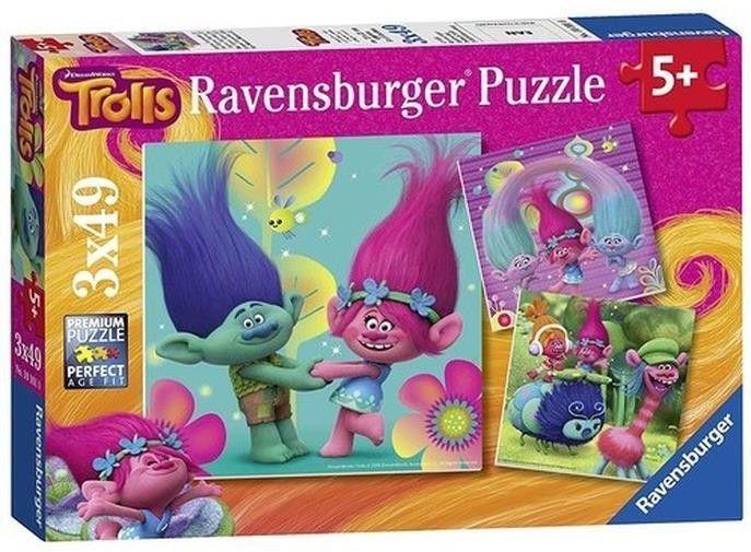 Ravensburger Puzzle Trolls 3x49el 093649