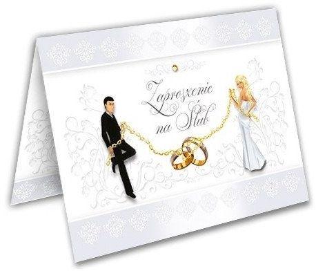 Zaproszenie na Ślub Młoda Para + koperta 1 sztuka ZX9600