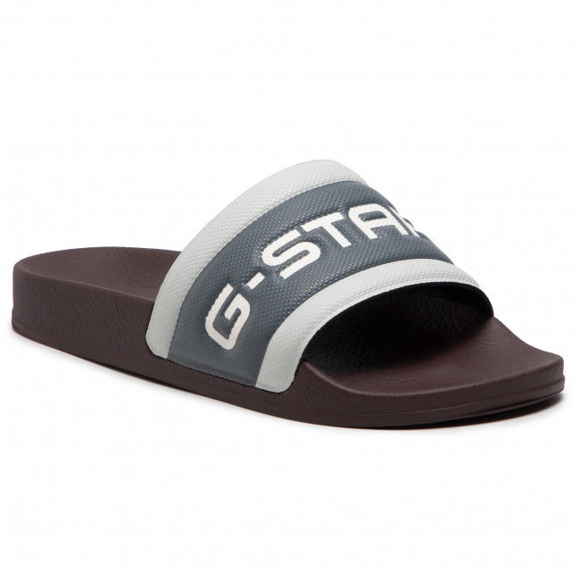 Klapki G-STAR RAW - Cart Slide III D13909-3593-C440 Dk Plum/Lt Building
