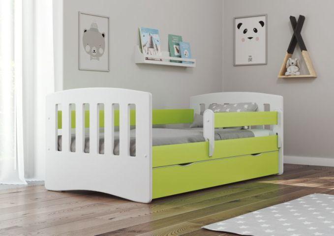 Łóżko dziecięce CLASSIC 1 140x80 zielone
