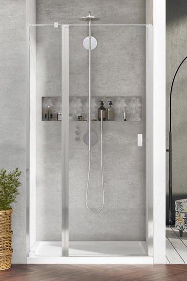 Radaway Nes DWJ II Drzwi wnękowe 90 cm lewe, szkło przejrzyste, wys. 200 cm. 10036090-01-01L