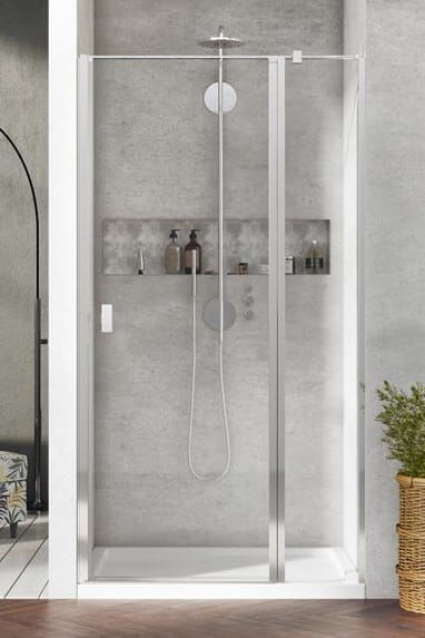 Radaway Nes DWJ II Drzwi wnękowe 90 cm prawe, szkło przejrzyste, wys. 200 cm. 10036090-01-01R