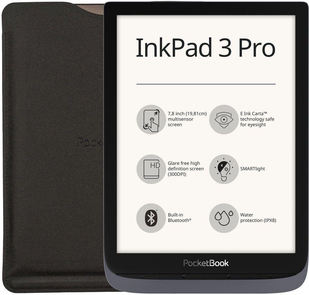 PocketBook InkPad 3 Pro Szary z etui + 60 dni Legimi + 700 ebooków GRATIS! - Wysyłka 24H lub odbiór osobisty we Wrocławiu!