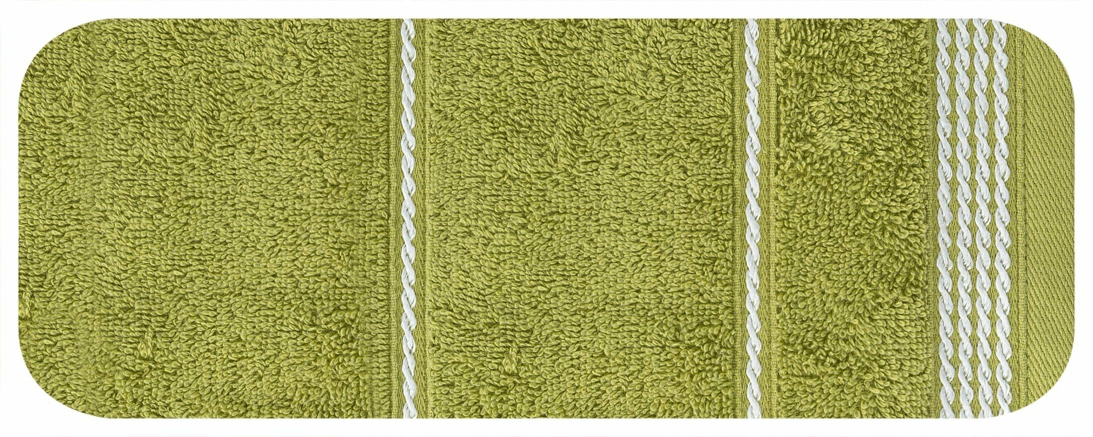 Ręcznik Mira 30x50 zielony 17 frotte 500 g/m2 Eurofirany