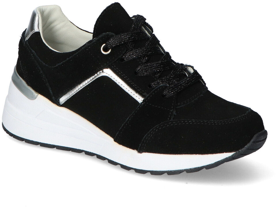Czarne Sneakersy Filippo na koturnie Filippo DP2003/21BK Black