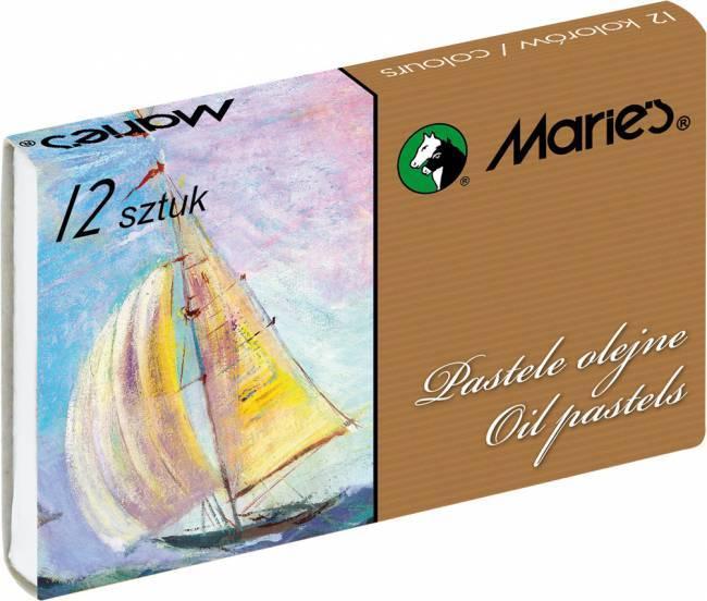 Pastele olejne 12 kolorów MARIE''S - X00780