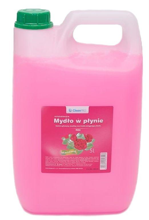 Antybakteryjne mydło w płynie CleanPRO STANDARD różane 5 litrów