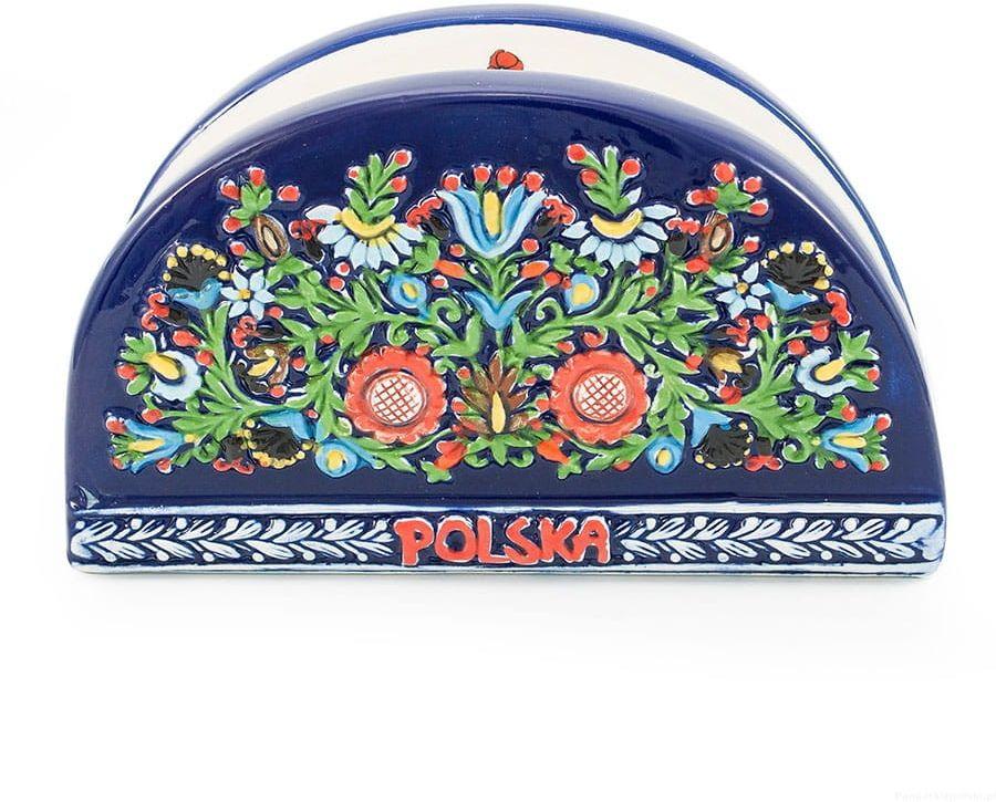 Ceramiczny serwetnik Polska, Wzór Kaszubski
