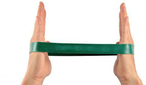 Gumowa pętla do ćwiczeń oporowych - Taśma Loop - opór mocny (zielona)
