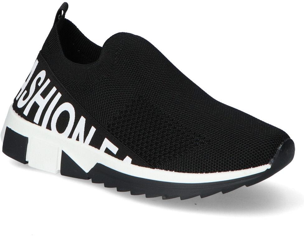 Materiałowe Sneakersy Filippo Czarne Filippo DTN2297/21BK Black