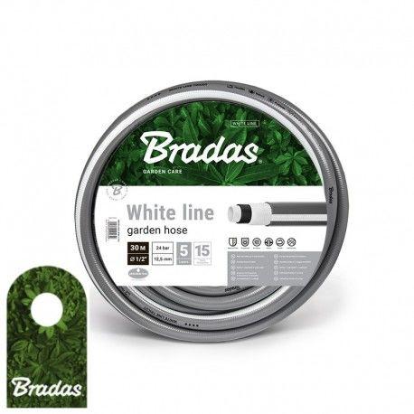 """Wąż ogrodowy 1/2"""" 30m WHITE LINE WWL1/230 5 warstw BRADAS 5649"""