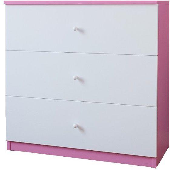 Komoda dla dziewczynki Happy 10X - biało - różowa