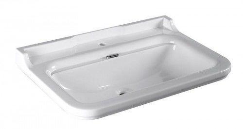 Umywalka RETRO 80x55cm podwieszana, biała WALDORF