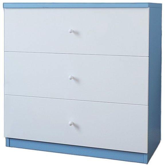 Komoda dla chłopca Happy 10X - biało - niebieska