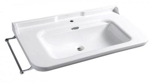 Umywalka RETRO 120x55 cm podwieszana, biała WALDORF