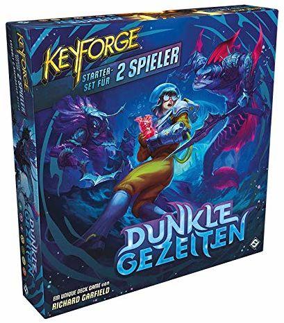 Asmodee Keyforge: Dark Gezeit - Starter-Set, gra podstawowa, gra karciana, demontaż, niemiecki