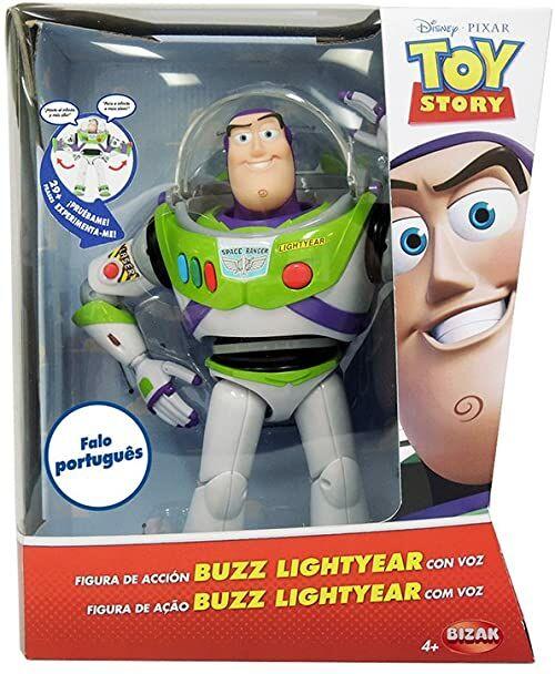 Toy Story  T.S. Buzz Lightyear z głosem PORTUGUES figurka elektroniczna, wielokolorowa (Bizak, S.A. 61234070)